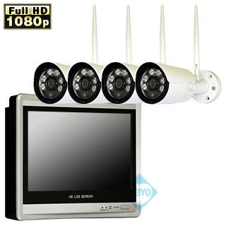11インチ液晶搭載HDD録画機&配線不要なワイヤレス防犯カメラセット新発売