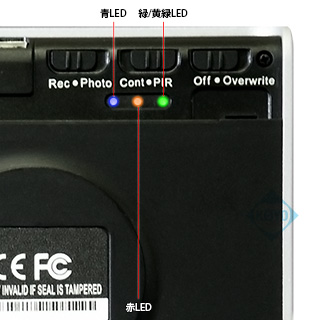 動作指示LED