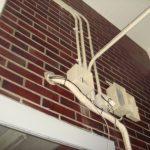 ケーブル引き込み 監視カメラ設置工事