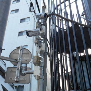 東京都中央区商店街街路灯 赤外線カメラ